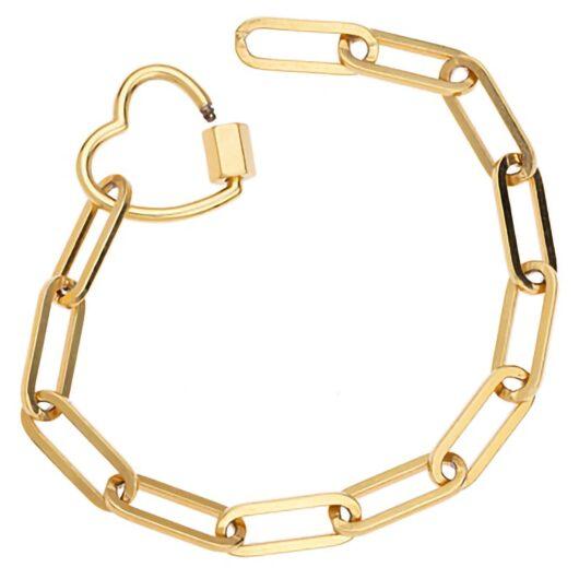 Love-lock-chain-bracelet